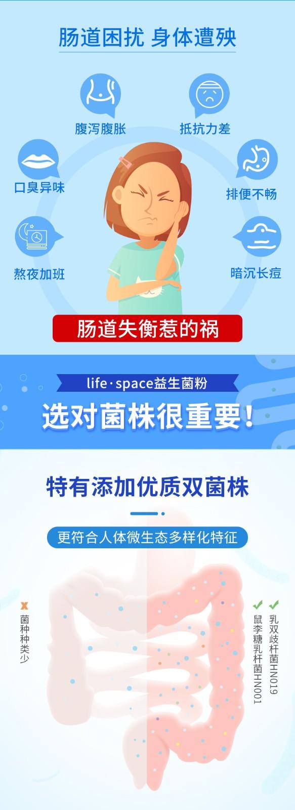 life.space 益生菌粉 1.5g*20袋/盒3
