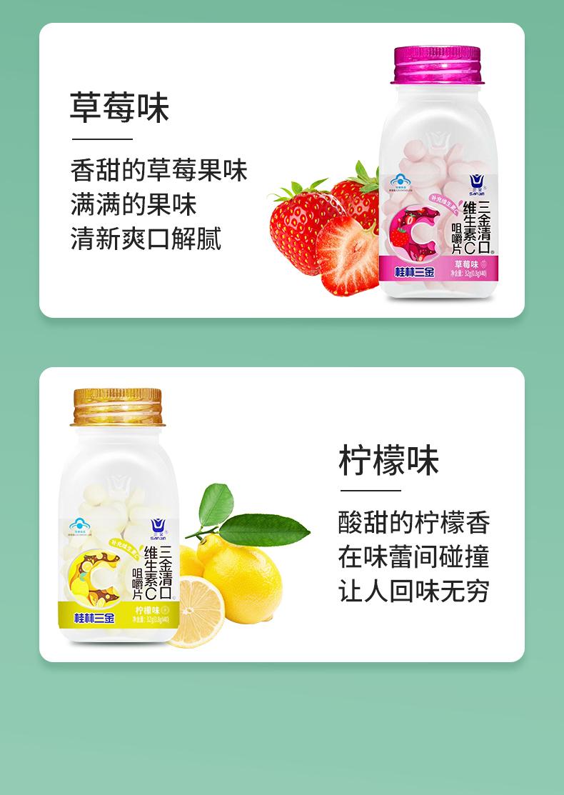 三金 清口维生素C咀嚼片 32g/瓶7