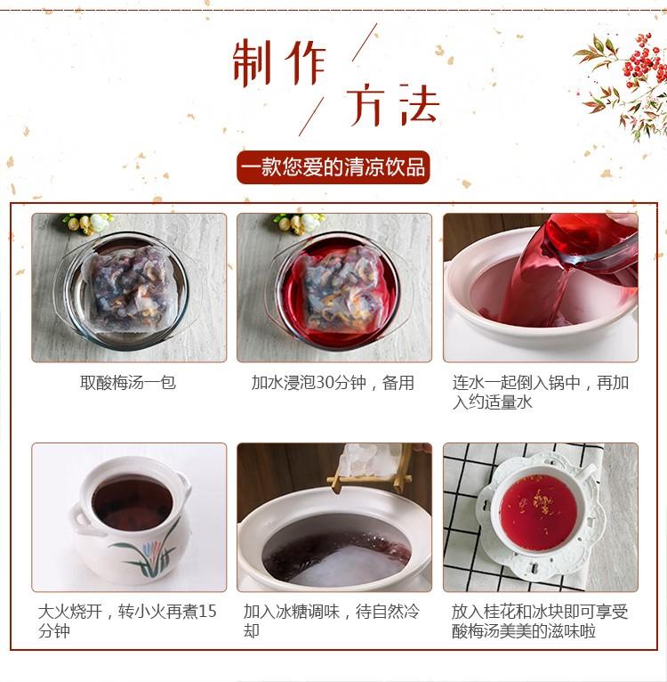 同仁堂 五味料酸梅汤茶包 100g/袋 12